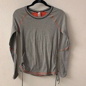 Lucy workout long sleeve shirt black stripe sz S
